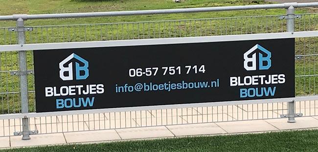 Nieuwe sponsor Bloetjes Bouw