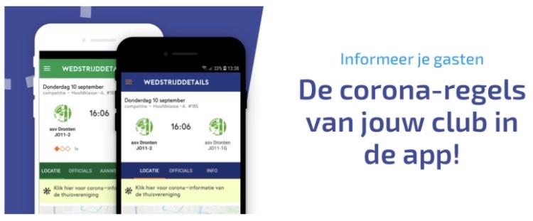 Nu live! SVA-Corona-regels in de app!