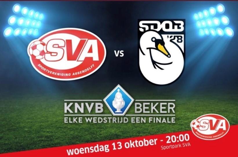 Bekerwedstrijd SVA - SDOB woensdag 13 oktober